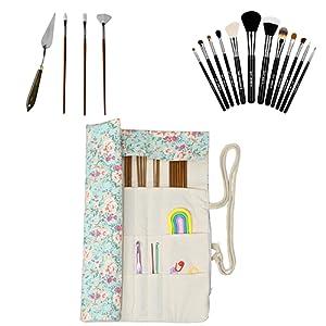 paint brushes needles case