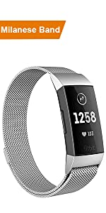 Fitbit Charge 3 Milanese Bands