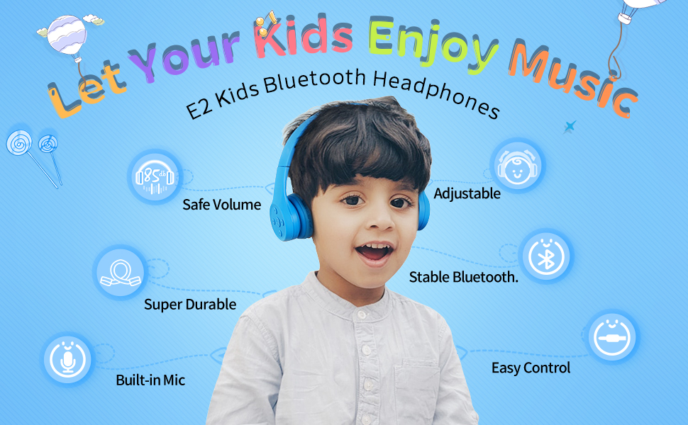 Amazon Com Picun Kids Bluetooth Headphones Safe Volume Limited 85db 15 Hours Play Time Foldable Stereo Sound Headsets With Mic Wireless Headphones For Boys Children Computer Cell Phones Tablet School Game Blue Electronics