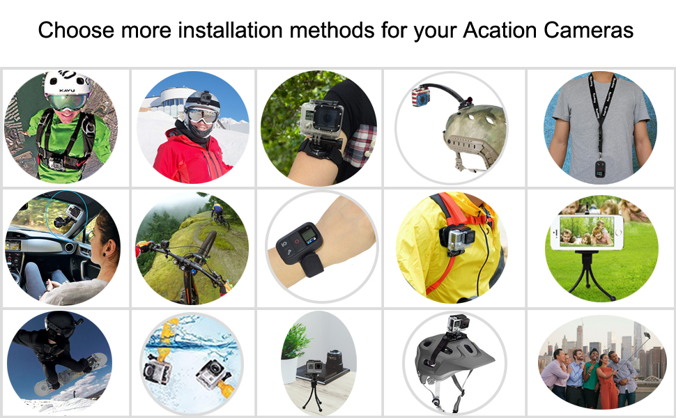 action camera accessories kit 4K action camera accessories