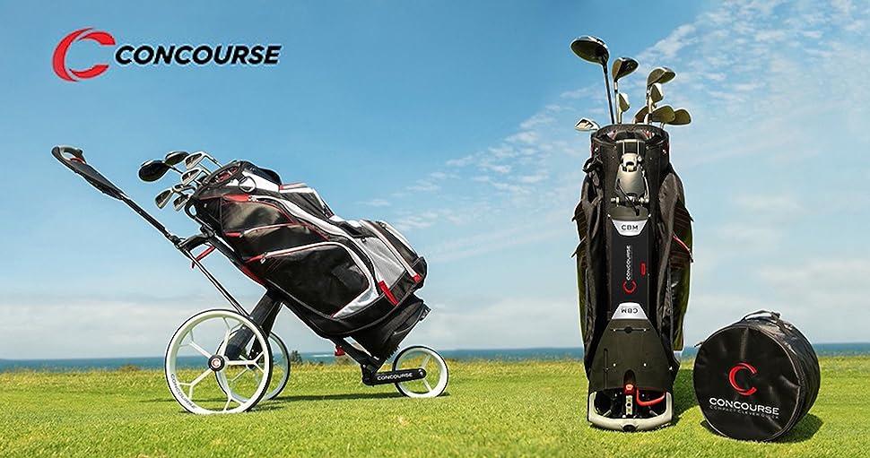 f0ff1a046bd3 Amazon.com : Concourse CBM3 Golf Push Cart Trolley, Compact ...