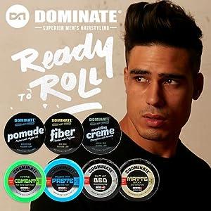 Amazon Com Dominate Men S Hair Styling Molding Creme With Keratin 75g 2 65 Oz Beauty