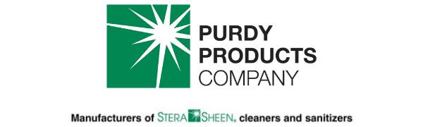 Purdy Logo and Stera Sheen Tagline