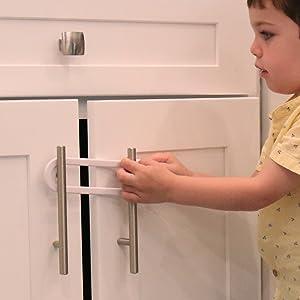 79070d2198bf4 Amazon.com   Child Safety Sliding Cabinet Locks (4 Pack) - Baby ...