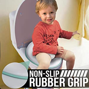 Potty Training Seat for Boys and Girls, Fits Round & Oval Toilets, Non-Slip with Splash Guard,