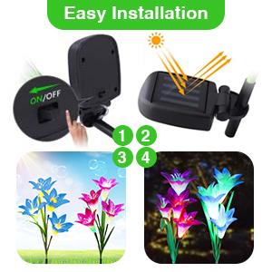 Solar Garden Lily Lights