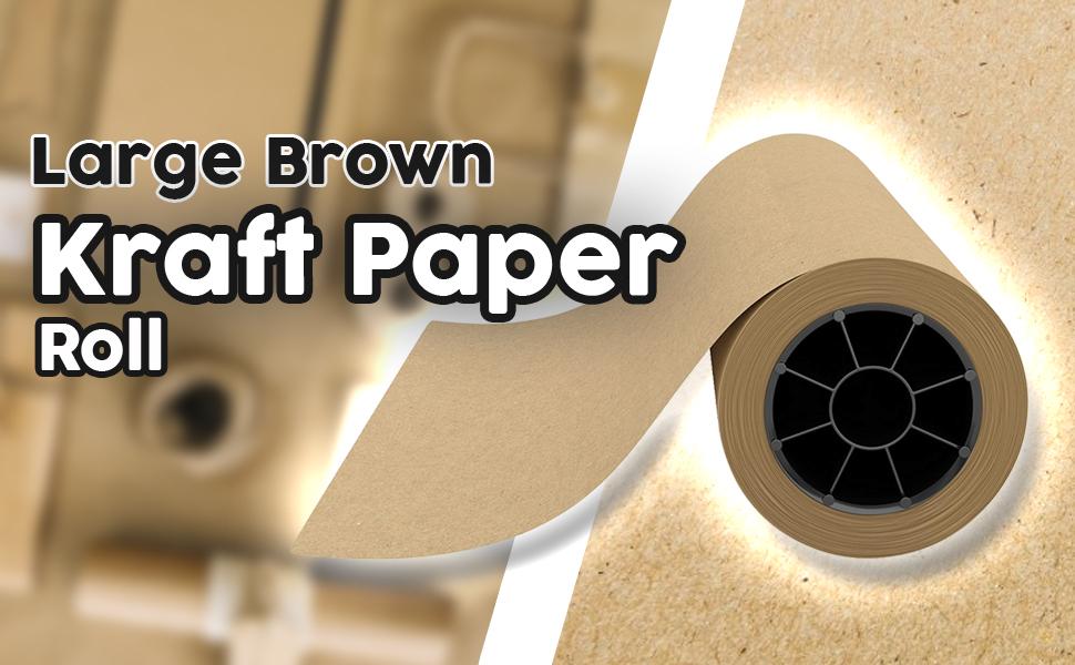 large brown kraft paper roll
