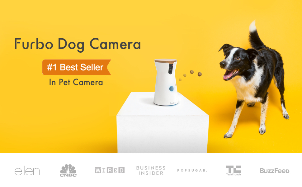 Furbo Dog Camera: Treat Tossing, Full HD Wifi Pet Camera and 2 Way Audio, Designed for Dogs, Compatible with Alexa (As Seen On Ellen)