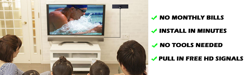 Free channels freeview hdtv antenna