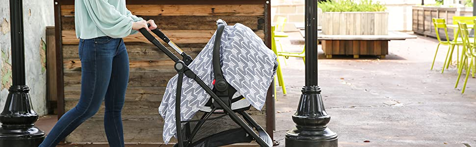 Muslin Carseat Canopy By Kids N' Such