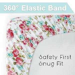 color rosa 2/x cama cuna Jersey S/ábana Bajera ajustable 100/% algod/ón 140/cm x 70/cm