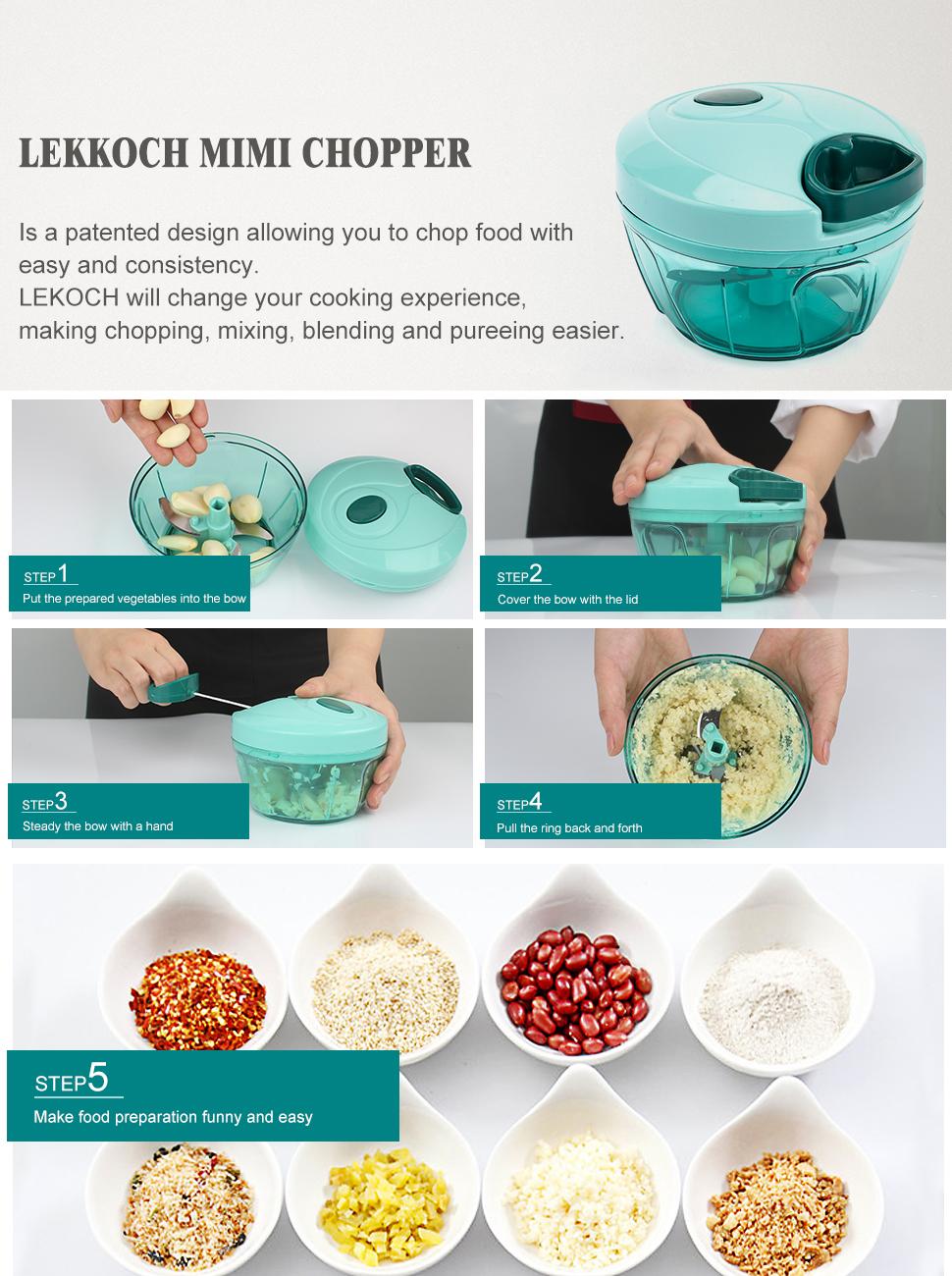 Amazon.com: LEKOCH Essential Kitchen Tools Onion Chopper Hand Speedy ...