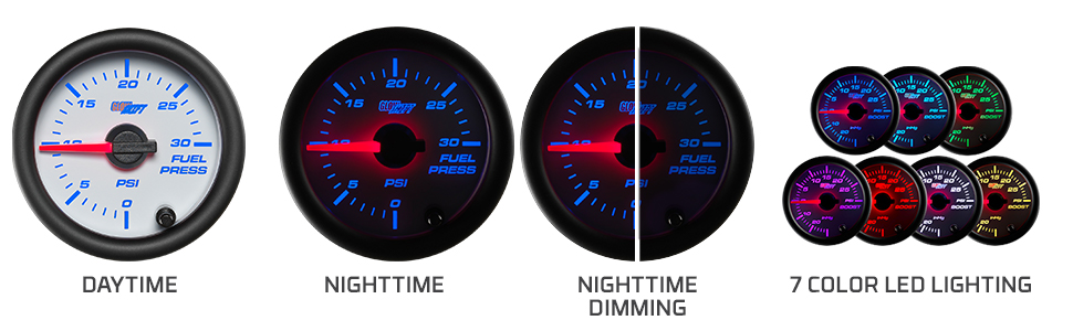 Daytime Nighttime Dimming 7 Color LED Lighting