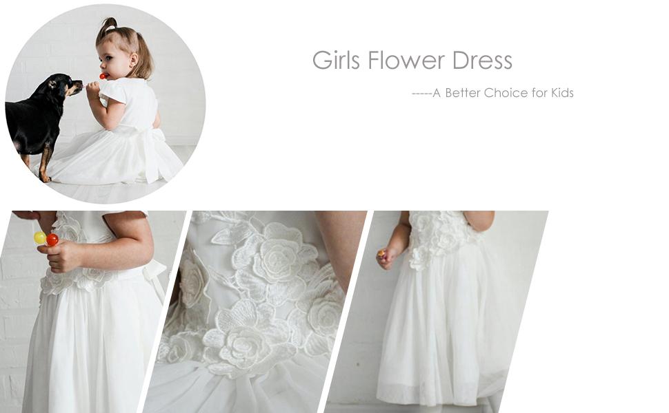 Amazon Cielarko Girl Dress Kids Flower Appliques Tulle Wedding