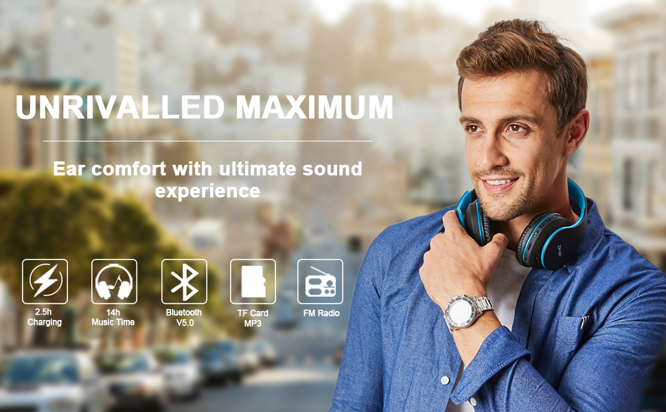 Bluetooth and Wired Stereo Headphones