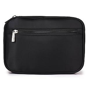 exterior zippered pocket