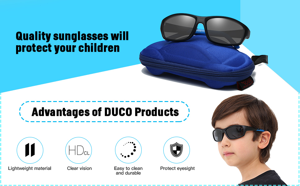 8999ad6d99 Duco Children s Polarized Sunglasses Keep Your Child s Eyes Protected From  The Sunshine And UVS.