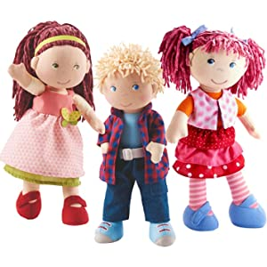 HABA Little Scamp Lilli 12 Soft Doll with Pink Hair and Freckles 957