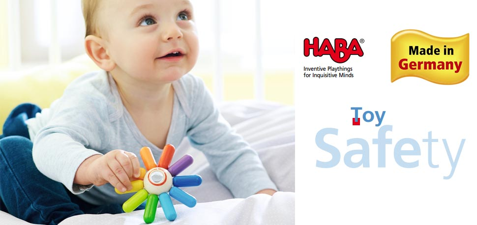 302140 HABA Rainbow Sun Wooden Clutching Toy Rattle /& Teether Made in Germany