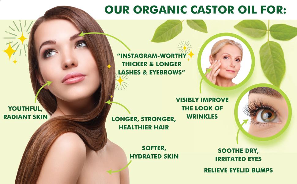 Hair Growth, Eyelash Growth Serum, Castor Oil, Organic Castor Oil