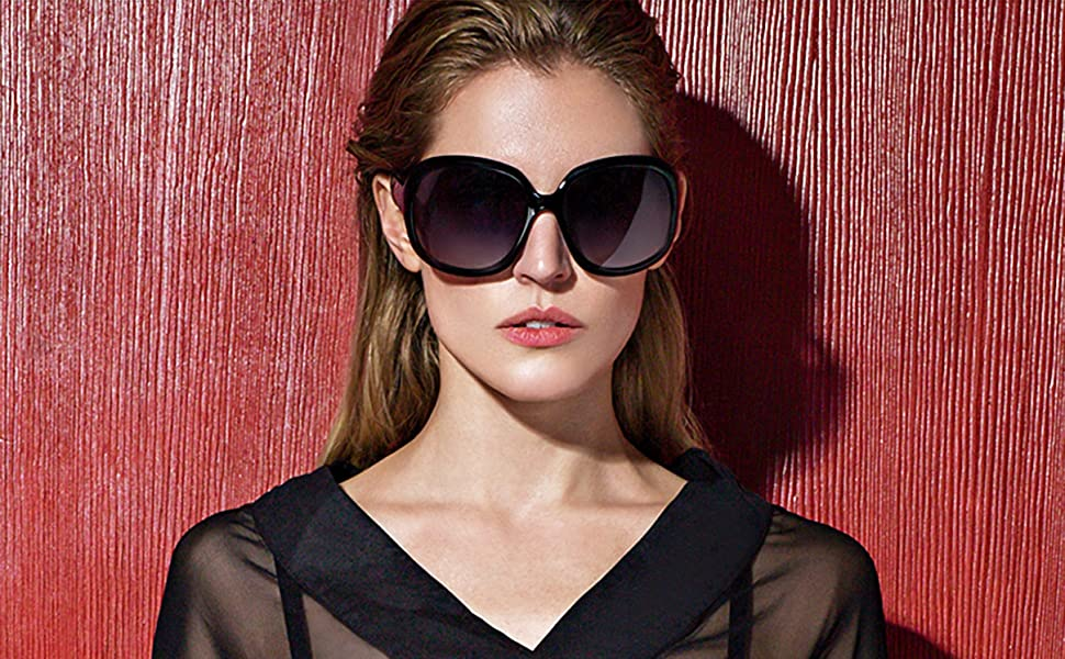 b6f402675de Amazon.com  ATTCL Women s Oversized Women Sunglasses Uv400 ...