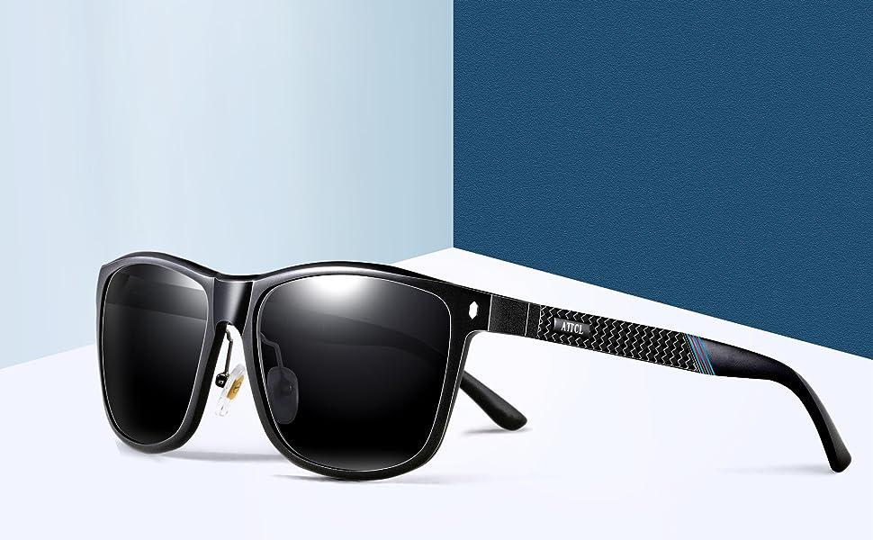 28149da4a9 ATTCL Men s Driving Polarized Sunglasses Al-Mg Metal Frame Ultra ...