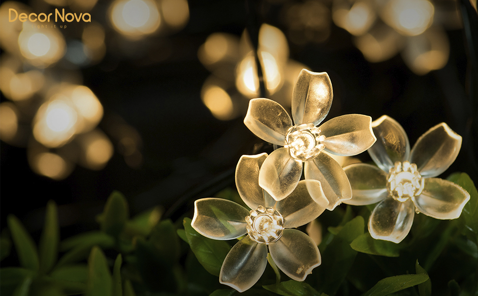 Solar string lights warm white decornova add a romantic touch to your garden mightylinksfo Image collections