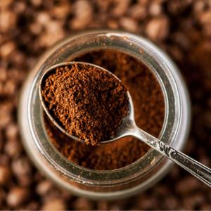 Espresso powder jar spoonful