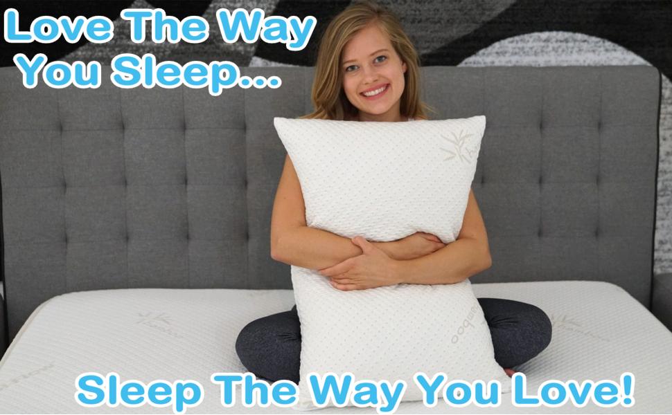 Best Sleep Pillow, Extra Luxury Soft Bamboo Memory Foam Shredded For Down Alternative Pillow Feel
