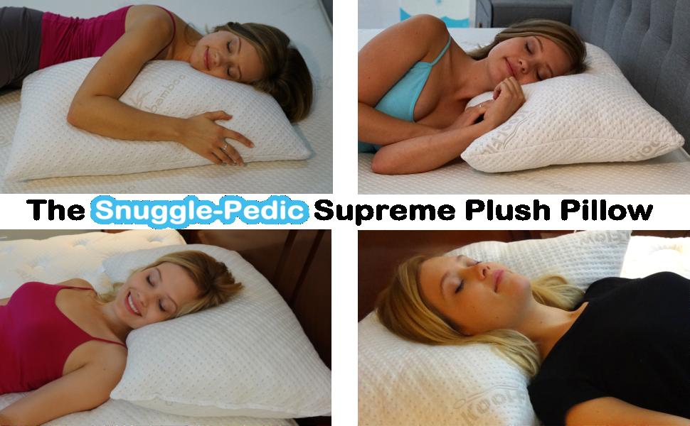 Side Sleeper, Back Sleeper, Stomach Sleeper Pillows, Adjustable Pillow Thickness Shredded Fiber/foam