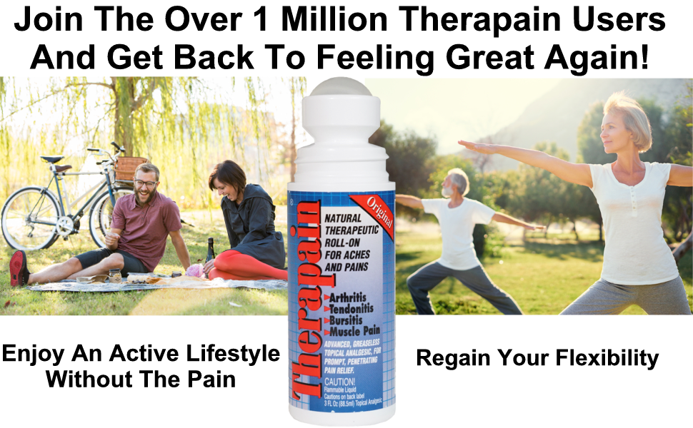 joint pain relief and active lifestyle with flexibility with Therapain
