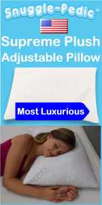 Snuggle-Pedic Supreme Plush Ultra Luxury Adjustable Bamboo Pillow For Side Stomach Back Sleeping