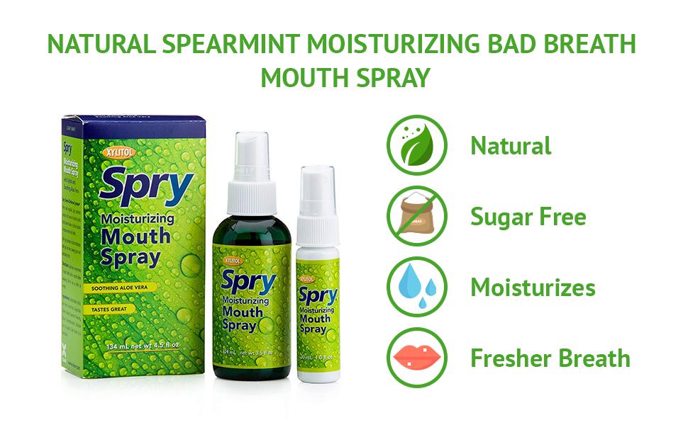dry mouth spray spry mouth rinse aloe spray