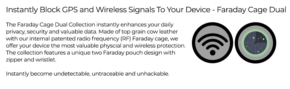 Instantly block gps wireless signals device faraday cage privacy security valuable data steal hacker