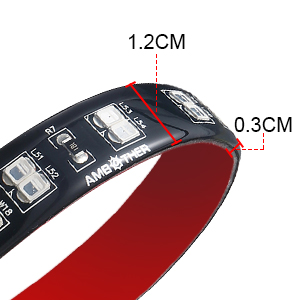 detail and dimension of led strip tail light