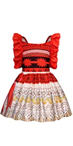 51e8ecda16120 Amazon.com: AmzBarley Moana Costume for Girls Dress up Toddler Baby ...