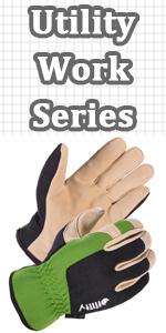 Men Deerskin Leather Suede Work Glove