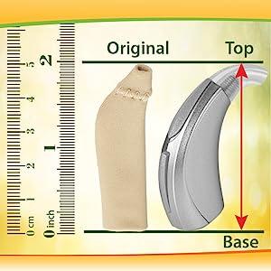 ear gear original hearing aid covers measurements