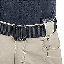 Belt loops for up to 50 mm wide belt. Loop for key hook, D-Ring, carabiner, etc. Classic jeans shape