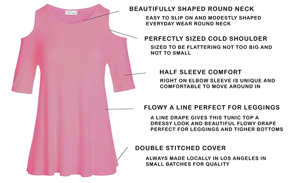 1c299afa09e334 Amie Finery Cold Shoulder Tops For Women Open Shoulder Tunic Tops ...