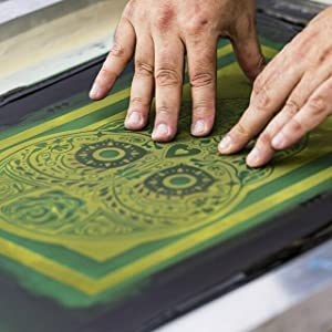 Stencil Screen Printing Visuals