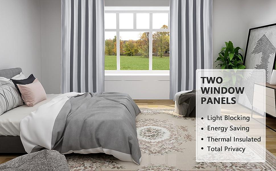 rod pocket blackout curtains for bedroom