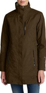 756a8f8db Amazon.com: Eddie Bauer Women's Girl On The Go Insulated Trench Coat ...