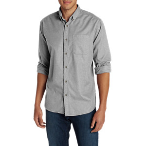 d6b999bc Eddie Bauer Men's Eddie's Favorite Flannel Classic Fit Shirt - Solid ...
