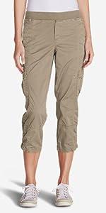 b3edbc6342 Eddie Bauer Women's Guide Pro Capris · Eddie Bauer Women's Adventurer  Stretch Ripstop Crop Cargo Pants - Slightly Curvy · Eddie Bauer Women's  Incline Crop ...