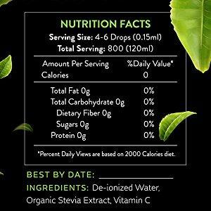 stevia drops clear nutritional fact