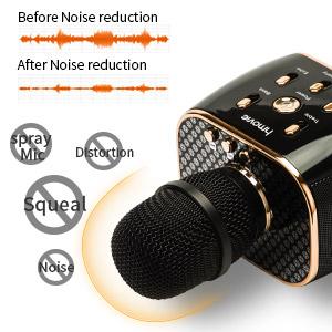 Amazon.com: 3300mAh Wireless Karaoke Microphone 12w Hi-Fi