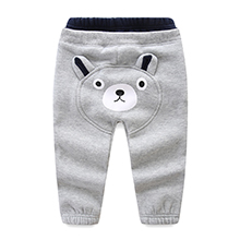 Mud Kingdom Kids Fleece Jogger Pants Winter Cute Bear