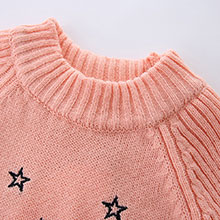 132966c0a Details of Mud Kingdom Toddler Girls Pullover Sweaters Cute Embroidered  Stars