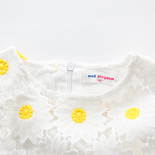 6aabe519af0 Amazon.com  Mud Kingdom Boutique Girl Dress White Sunflower  Clothing